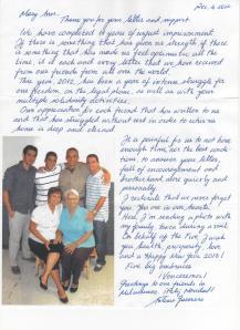 Antonio Guerrero 2013-1-23 letter